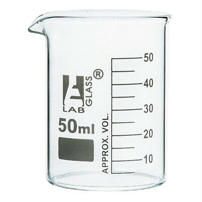 LabGlass Low Form Beaker with Spout Graduated 50ml Pack of 12