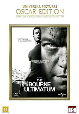 The Bourne Ultimatum DVD Region 2 NEW No Shrinkwrap Matt Damon Film Movie