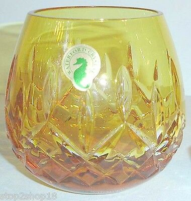 Waterford LISMORE Cased Yellow Votive Candle Holder Crystal 142166 New In Box
