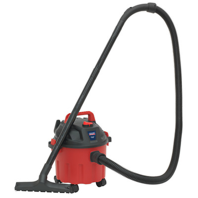 Sealey High Powered Wet Or Dry Hoover 10 Ltr Red