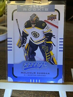 2015 Upper Deck MVP #180 Rookie Short Print Malcolm Subban Boston Bruins RC Card IJshockey Verzamelkaarten, ruilkaarten