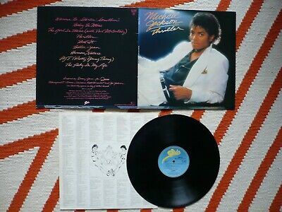 Michael Jackson Thriller Vinyl UK 1982 Epic 1st Press A1/B1 LP  Billie Jean