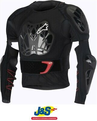 Alpinestars Bionic Tech Armoured Jacket Protector Stretch Mesh Black Red White