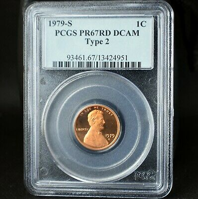 1979-S Lincoln Memorial Cent Penny~1C~Pcgs Pr67Rd Dcam Type 2~Deep Cameo~Red~2~!