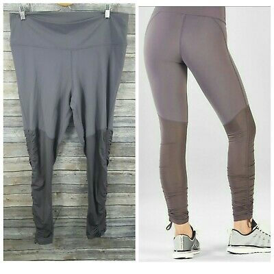 ff1d45467a18b1 WOMENS SMALL FABLETICS Cashel Leggings Mauve Rouge Red Pink Drawcord ...