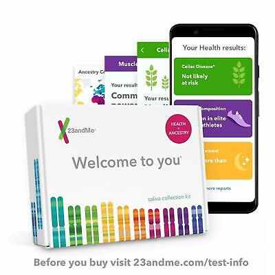 New 23andMe DNA Test, Health + Ancestry Personal Genetic Service, 125+ Reports
