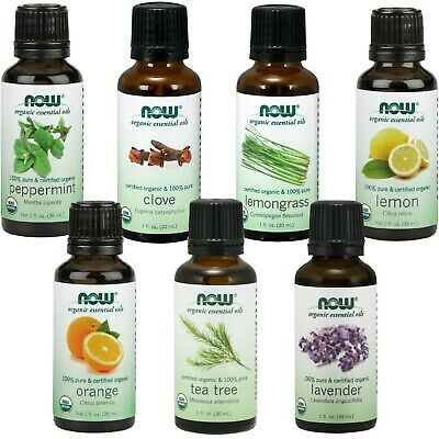 NOW Foods Organic Essential Oil Varieties, Health - Beauty - Mood, 1 oz. Each