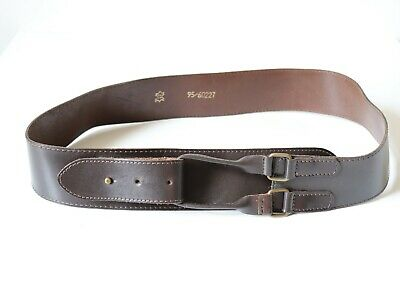 "Unisex  Men's Women's Width 2.25"" Brown 100% Real Leather Belt Size 95 / 32"" 36"""