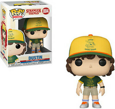 FUNKO POP! TELEVISION: Stranger Things - Dustin (At Camp) W/ Pop Protector