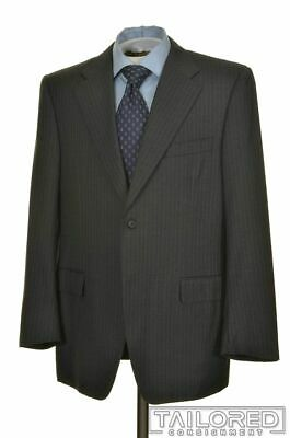 CANALI Recent Gray Striped 100% Wool Jacket Pants SUIT Mens - EU 52 R
