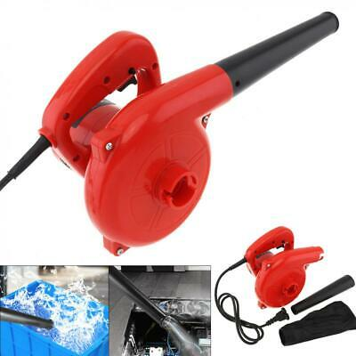 600W Leaf Blower Electric Garden Dust Removal Handheld Air Blower w Suction Head