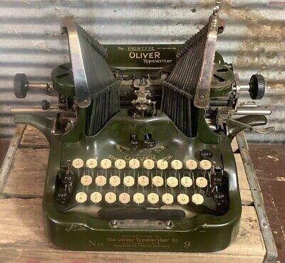 Beautiful Antique 1910s Vtg OLIVER TYPEWRITER Standard Visible Writer No. 9