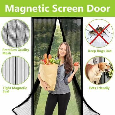 Magic Mesh Screen Net Door Hands Free magnets Anti Mosquito Fly Bug Curtain