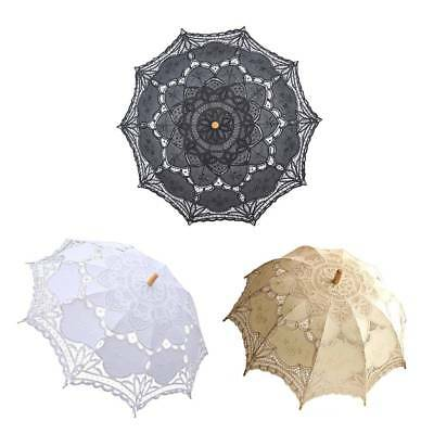 Lace Embroidered Sun Parasol Umbrella Bridal Wedding Dancing Party Photo Show s