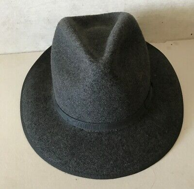 Amalgamated Clothing & Textile Workers Union Wool Fedora Hat Grey 7 1/8 Vintage