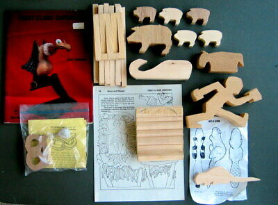 Wood Carving Blanks, First Class Carving Book With Lot of Cutouts; Bowler, Whale