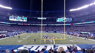 NY GIANTS vs NEW YORK JETS - 2 SEATS LOWER LEVEL CENTER ENDZONE + PARKING