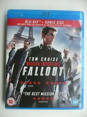 Mission: Impossible - Fallout (Blu-ray, 2018, 2-Disc set) Tom Cruise
