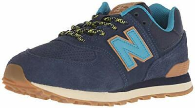 NEW BALANCE BOYS' Iconic 574 Sneaker, BlackEarth Red, 5.5 M