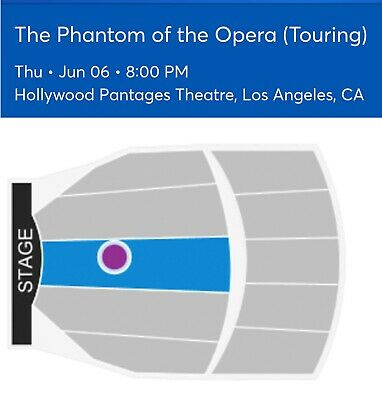 2 Tickets The Phantom Of The Opera 6/15/19 Pantages Theatre - CA Los Angeles, CA