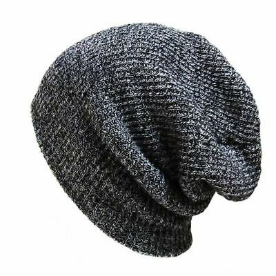 2019 New Fashion Loose Knitted Hat Beanie Hats Warmth Warm Caps Winter Outdoor B