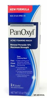 Panoxyl Benzoyl Peroxide Foaming Acne Wash 10% 5.5oz - New FREE SHIPPING d10