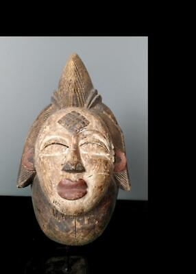 Old  Tribal Punu Maiden Spirit   Mask       -  Gabon BN 32