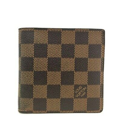 e699728c32627 100% Authentic Louis Vuitton Damier Portefeuille Marco Bifold Wallet  e117