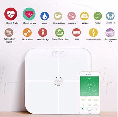 RENPHO Smart Heart Rate Body Fat Scale Bluetooth Digital Bathroom Scale ES-BR001