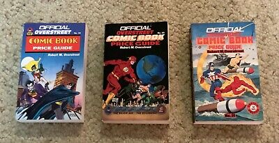 Overstreet Comic Book Price Guides Vol. 19, 20 & 21 (1989-1991) Softcover!