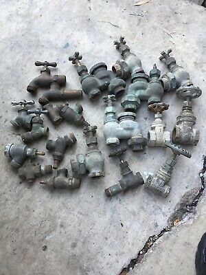 Vintage lot Plumbing Faucet Spigot Architectural Salvage Steampunk 20 Pieces