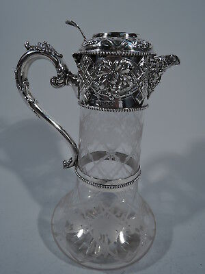 Victorian Decanter - Antique - English Sterling Crystal - Sissons   1867