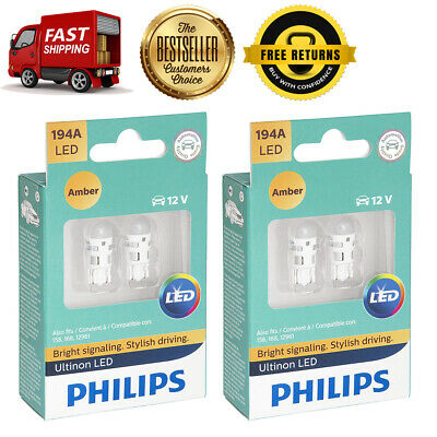 Philips 4X Amber Ultinon LED Turn Signal Light Bulb For 1978-1980 Ford Fiesta