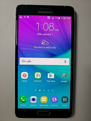 Samsung Galaxy Note 4 SM-N910A 32GB (AT&T+GSM Unlocked)  Black Smartphones