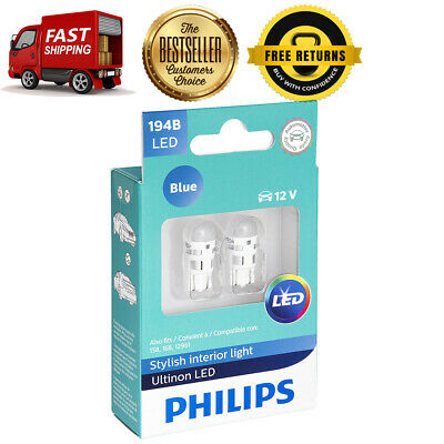 Philips 2X Blue LED Interior Side Marker Light Bulb Rear For 87-96 Chevy Corsica