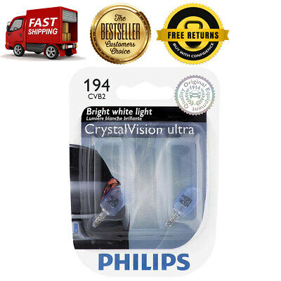 Philips 2X Crystal Ultra Side Marker Light Bulb Front For 1969 Chevrolet Corvair