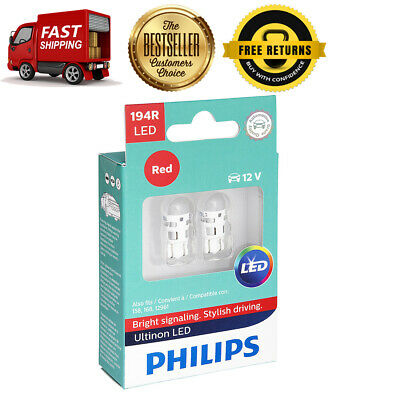 Philips 2X Red Bright LED Parking Brake Indicator Light Bulb For 62-68 Falcon