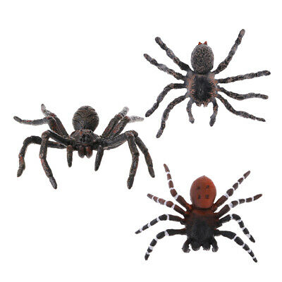 Realistic Animal Model Figures 3pcs Spiders Kids Pretend Play Scary Toys