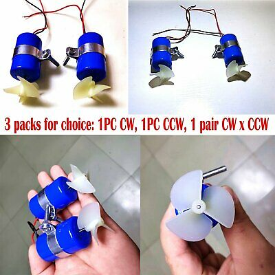 RC Jet Boat Underwater Motor Thruster CW CCW 3-blades Hélice 7.4V 16800RPM VS