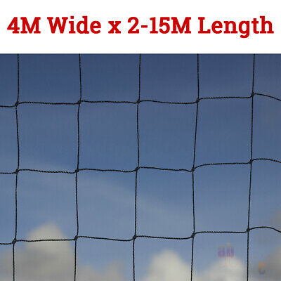 4M Wide Anti Bird Pond Netting Net Plants Veg Fruit Protection Garden Fine Mesh