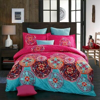 Egyptian Comfort Ultra Soft 3 Piece Duvet Cover Set for Comforter Bedding Red