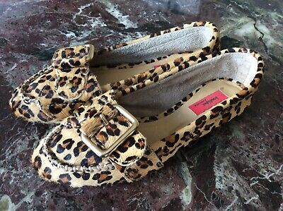 1986fc977e7f Nordstrom Boutique Size 5.5 Women's Leopard Print Calf Hair Loafers  Moccasins