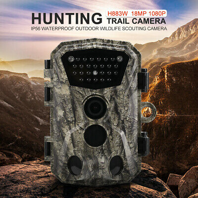Hunting Trail Camera 18MP 1080P Wildlife Scouting Infrared Night Vision Z0C0