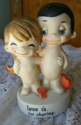 Vintage Love is ......for Sharing Figurine by Kim Casali 1972.