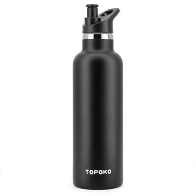 c5a22a8b27 TOPOKO 25 OZ Double Wall Stainless Steel Water Bottle, Straw Lid with  Handle.