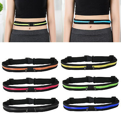 Unisex Outdoor Sports Bum Bag Running Belt Waist Fanny Pack Travel Zip Pouch UK