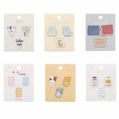 3pcs Magnetic Bookmark Creative Mini Book Folder Page Marker Clip Metal Gifts