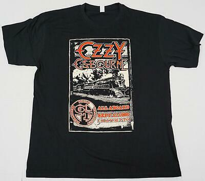82a0c5e0b OZZY OSBOURNE CRAZY Train Logo Men's Black T-Shirt Size S M L Xl 2Xl ...