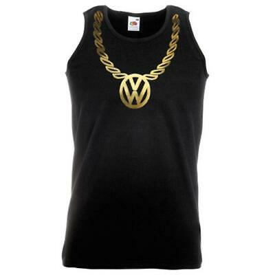 Unisex Black Beastie Boys Gold Bling Necklace Vest Sabotage Fight Party