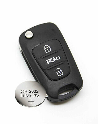 FITS Kia rio 2 Button KEY FOB REMOTE CASE SHELL + new battery CR2032